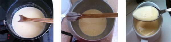 étapes de préparation de crème anglaise