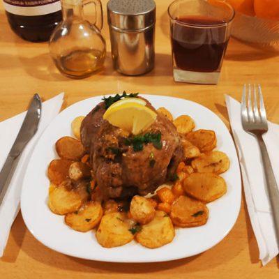 Présentation rôtit de bœuf