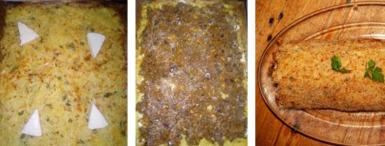 L'assemblage du roulé de pommes de terre