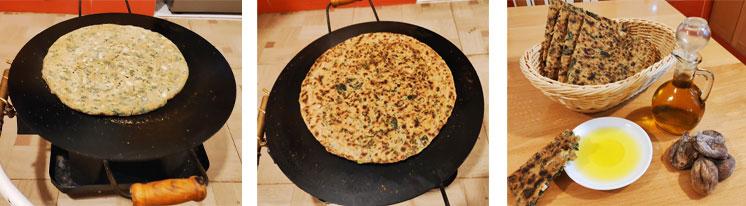Cuisson du pain kabyle au chardon d'Espagne