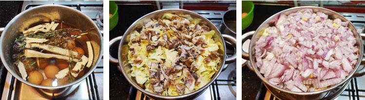 La cuisson des légumes du couscous à la vapeur
