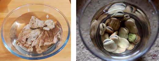 Préparation des ingrédients du couscous à la vapeur 1