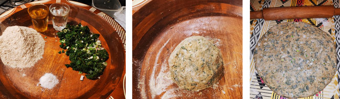 Préparer le pain kabyle au chardon d'Espagne