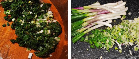 Préparer les légumes pain kabyle au chardon d'Espagne