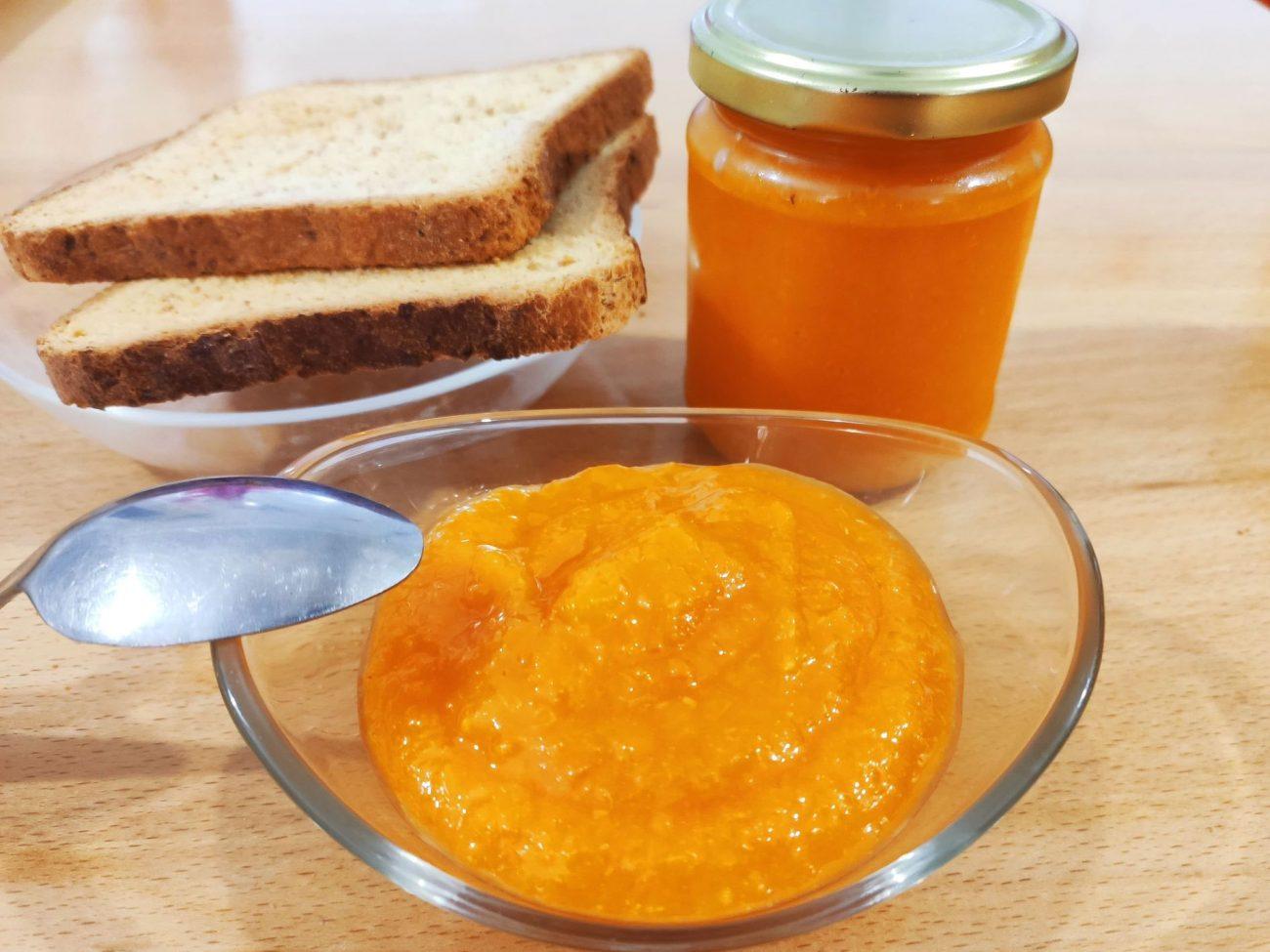 Confiture citrouille orange allégée en sucre