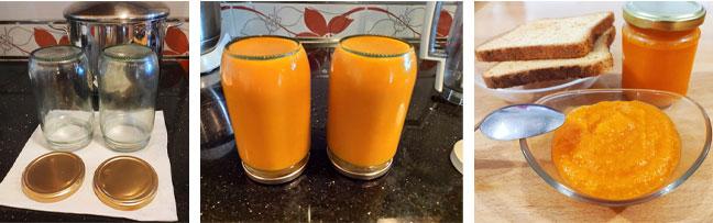 Conservation confiture orange citrouille