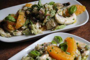 Salade printanière aux champignons et au miel