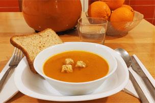 Servir la soupe au potiron