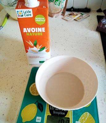 Incorporez le lait + beurre
