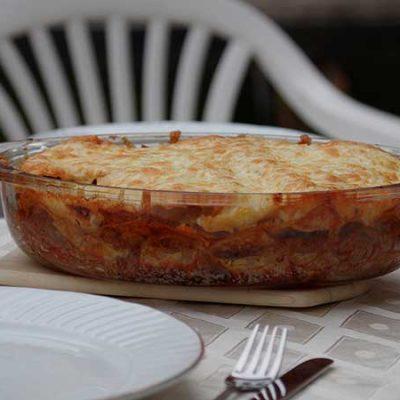 Lasagne aux fruits de mer et sauce tomates
