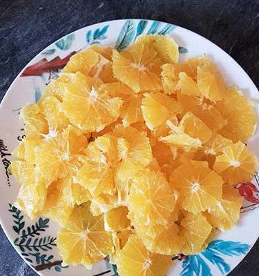 Oranges tranchées