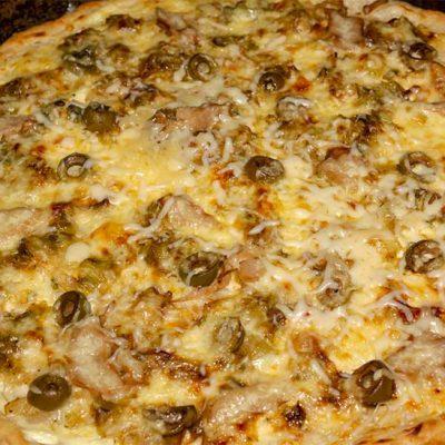 Pizza à la crème