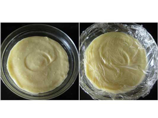 Conservez le crème pâtissière