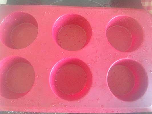 Moule à muffins en silicone pour 6 tasses