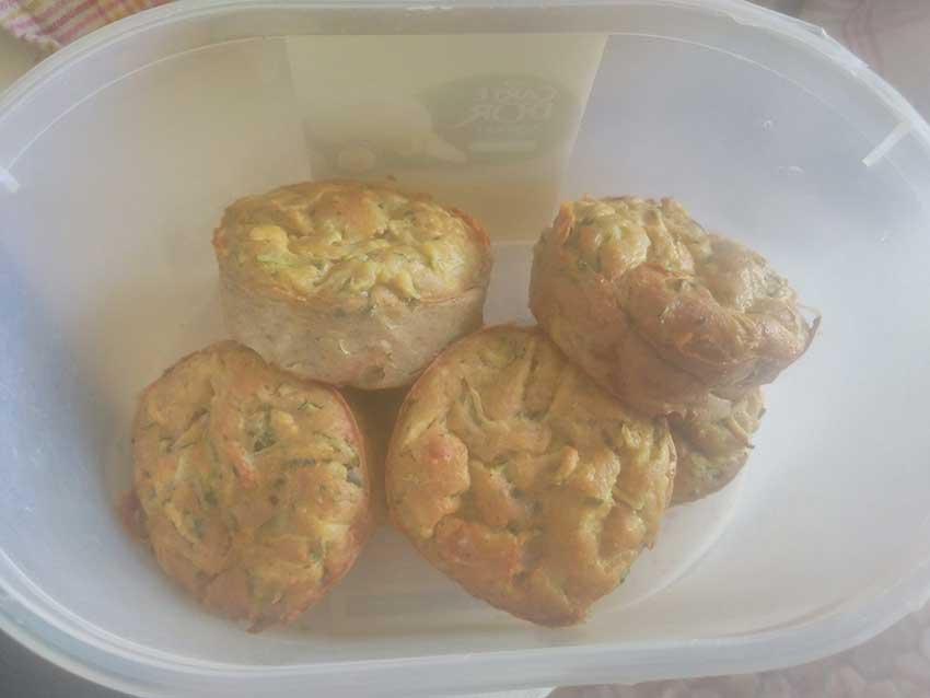 Muffins de courgettes et parmesan