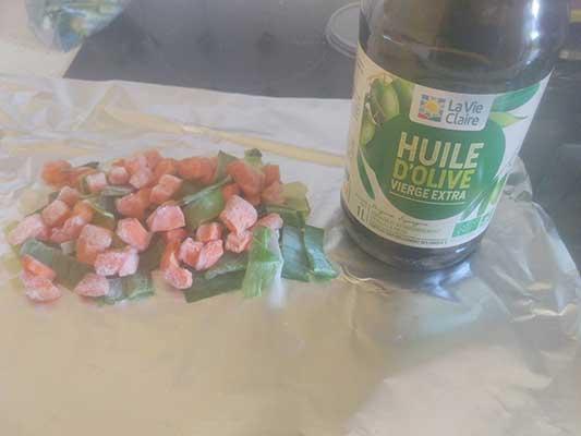 Ajoutez de l'huile d'olive