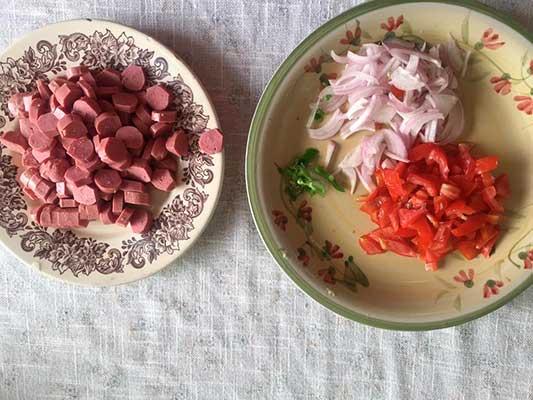 Couper les  légumes.