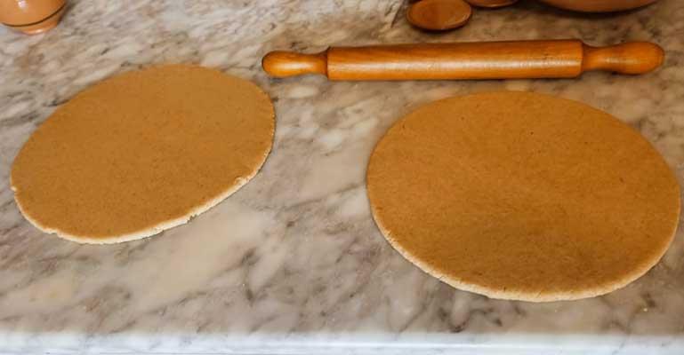 Étaler les deux pâtes