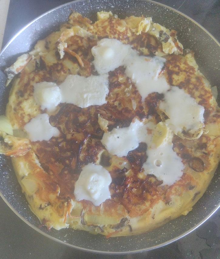 Omelette aux cèpes et chanterelles