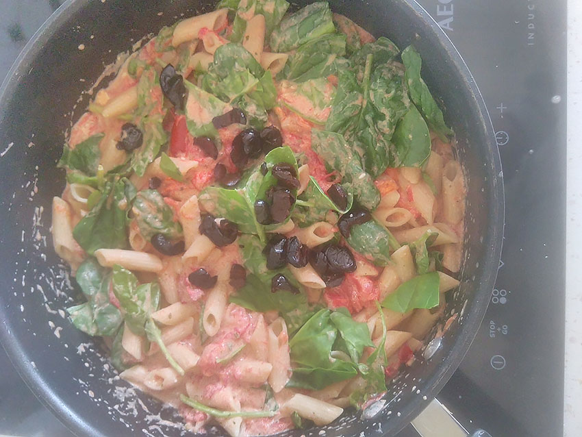 Sauce au Boursin et tomates pour pâtes