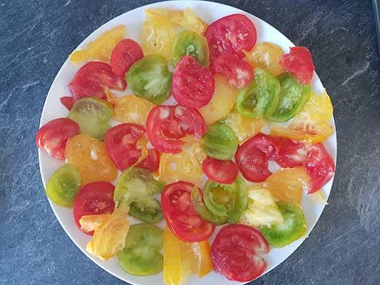 Disposez les tomates