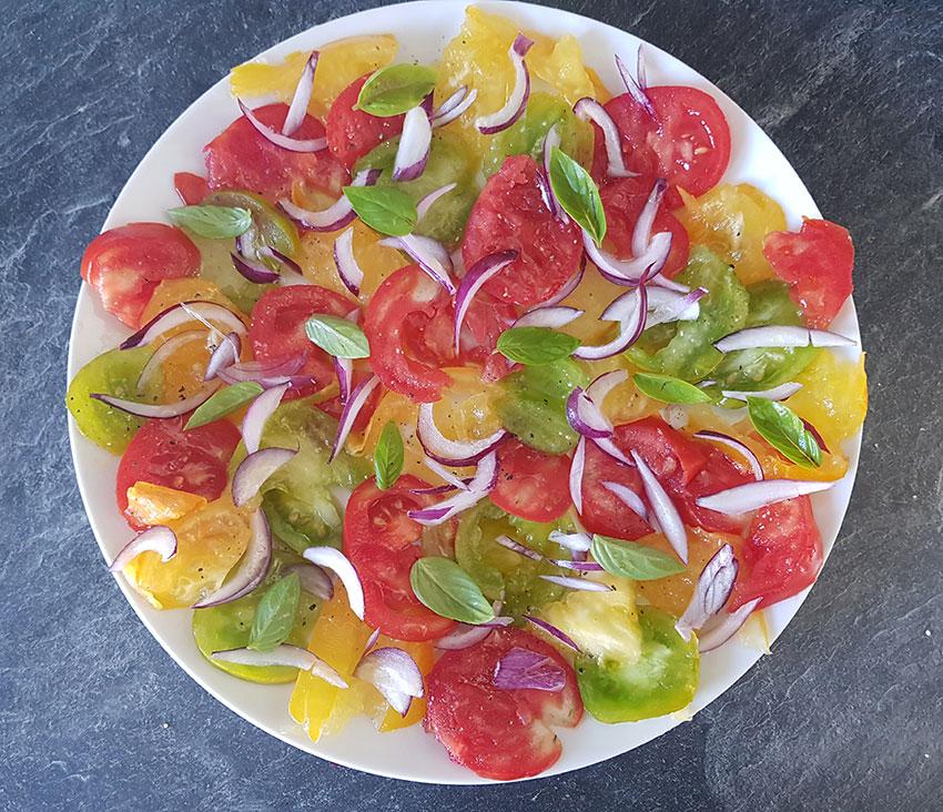 Salade de tomates 3 couleurs